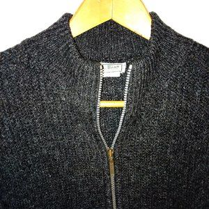 L.L. Bean Wool Men's Full Zip Charcoal Gray Sz XL